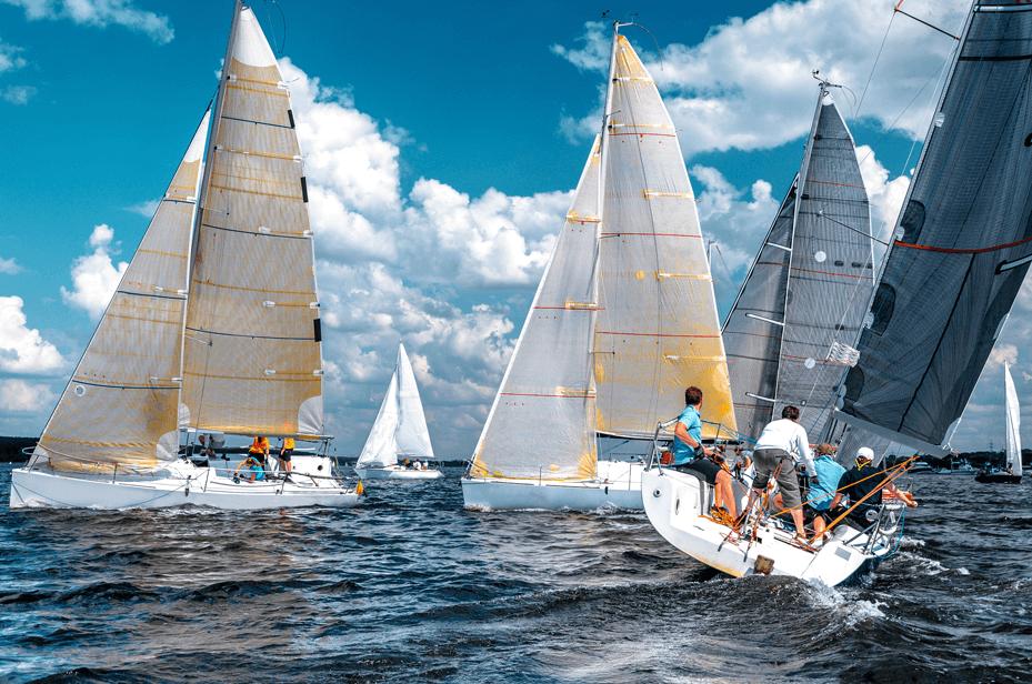 Keelboat Sailing Race