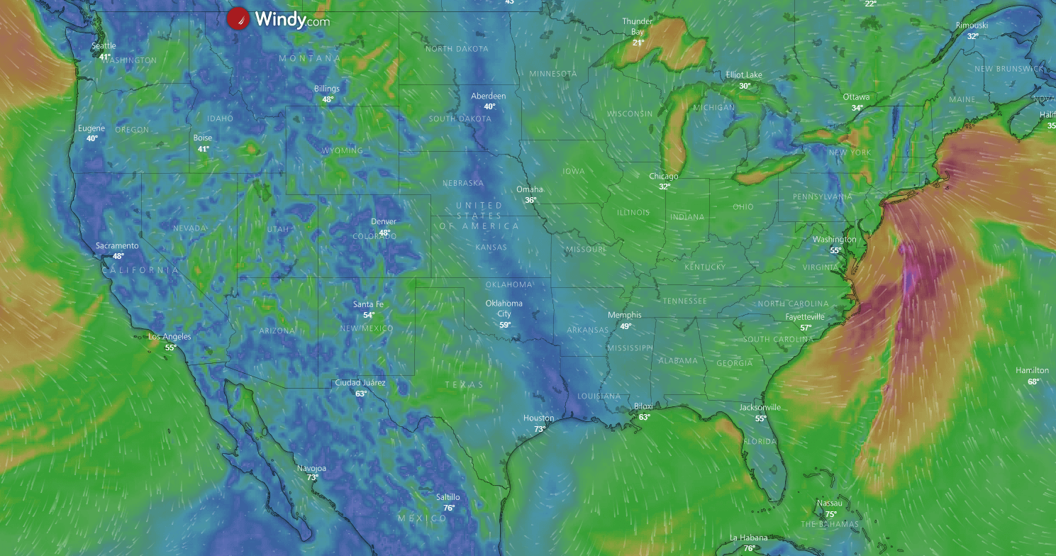 Wind and Weather information