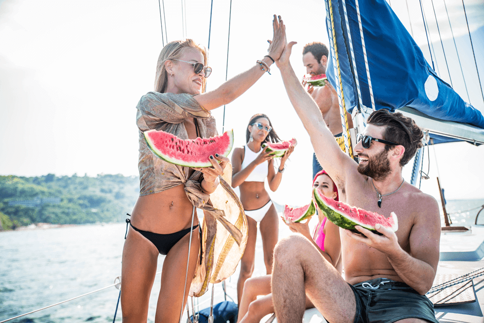 Bareboat Charter with friends